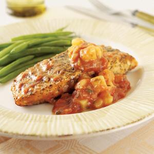 Inspirations Pineapple Salsa Salmon