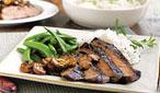 Teriyaki Marinated Flank Steak With Mushrooms