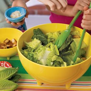 Caesar Salad with Homemade Dressing and Croutons