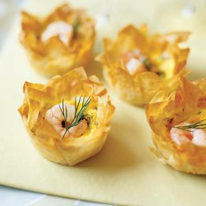 Dilled Shrimp Mini Quiches
