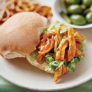 Sweet and Sour Pulled Pork Sandwich