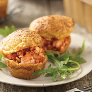 Backyard Beauty Tomato and Shrimp Stuffed Popovers