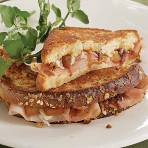 Grilled Ham and Gruyere Sandwich with Quick Apple-Onion Chutney