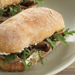 Grilled Portabella Sandwich with Arugula