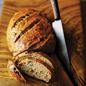Curried Fruit Bread with Bacon