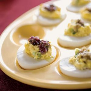 Deviled Eggs Stuffed with Inspirations Tapenade