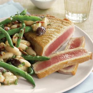 Sauteed Tuna with Nicoise Sauce