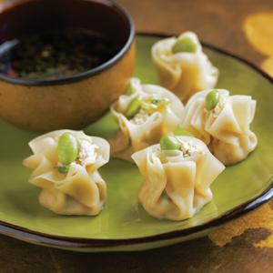 Tofu Shumai with Sesame Soy Dipping Sauce