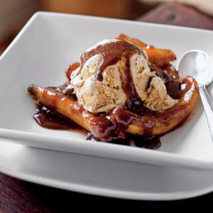 Bananas Foster with Coffee Rum Ice Cream