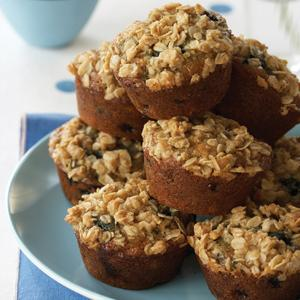 Crumb-Topped Wild Blueberry Muffins