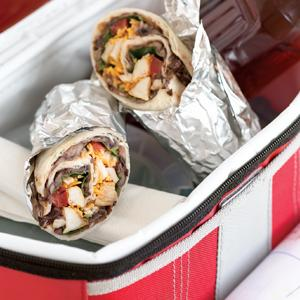 Easy Roller Chicken Wrap with Black Bean Spread