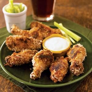 Mustard-Crusted Chicken Wings