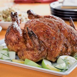 Pepper and Apple Roasted Chicken