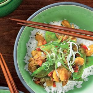 Five-Spice Chicken and Cashew Stir-Fry