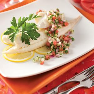 Chilled Poached Haddock with Cucumber Relish