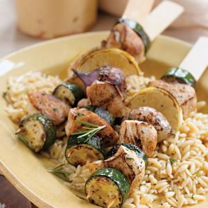 Chicken and Zucchini Kabobs