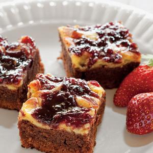 Strawberry Pomegranate Cheesecake Brownies
