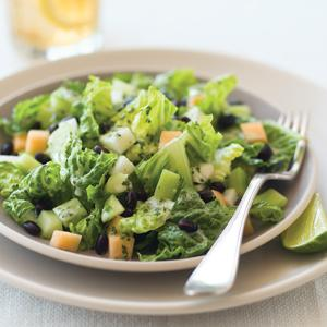 Mexican Salad with Jicama, Cucumber, and Black Beans