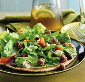 Mediterranean Beef and Salad Pita