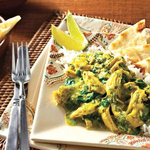 Chicken and Spinach Coconut Masala