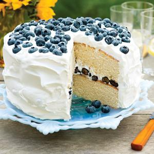Blueberries and Cream Layer Cake