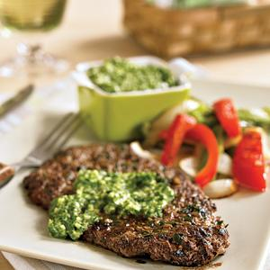Garlic and Parsley Rubbed Steaks