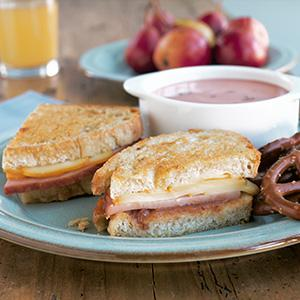 Grilled Wildflower Honey Ham Sandwich