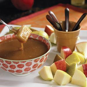 "Caramel ""Fondue"" with Fresh Fruit"