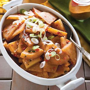 Spicy Turnips with Jamaican Jerk Flavors