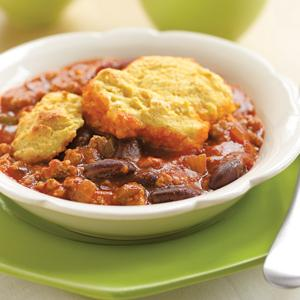 Chili Corn Bread Cobbler