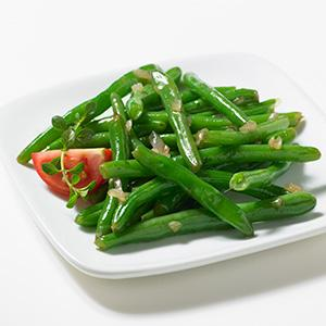 Quick Pan Roasted Green Beans