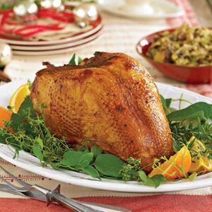 Rosemary and Honey Turkey with Hazelnut-Mushroom Dressing