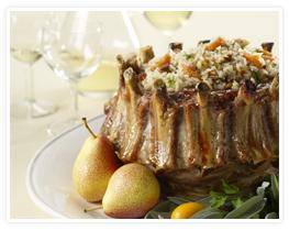 Rice-Stuffed Pork Crown Roast