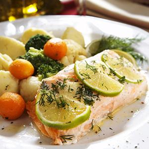 Roasted Salmon with Dill and Lime