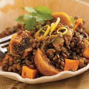 Lentil, Sweet Potato, and Fig Stew