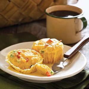 Vegetable Omelet Cupcakes