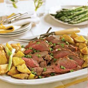 Southwestern Butterflied Leg of Lamb with Roasted Potatoes
