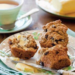 Raisin-Studded Soda Bread Muffins
