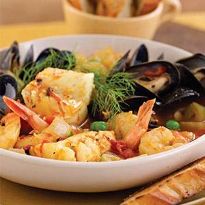 Bouillabaisse of Haddock and Vegetables