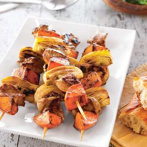 Honey-Fennel Marinated Chicken Kabobs