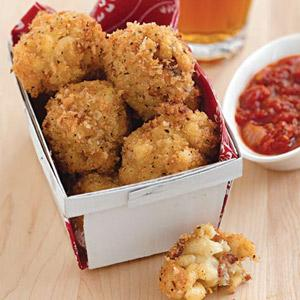 New York Fried Macaroni and Cheese with Bacon Balls