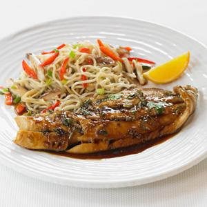 Haddock with Soy-Ginger Glaze
