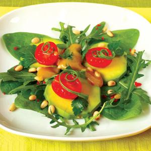 Avocado and Cherry Tomato Salad with Pine Nuts