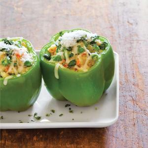Stuffed Capsicums (Green Bell Peppers )