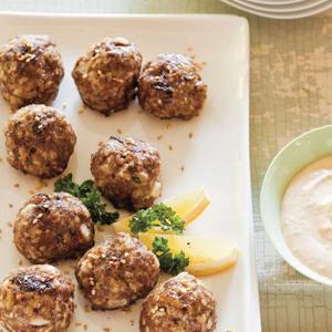 Sesame Lamb Meatballs