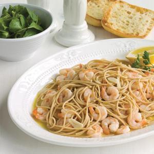 Shrimp Scampi with Baby Arugula Demi-,-Salad
