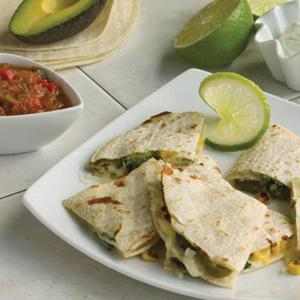 Chicken and Corn Quesadillas