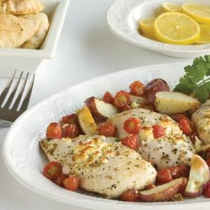 Chicken and Tomatoes with Potatoes & Gorgonzola