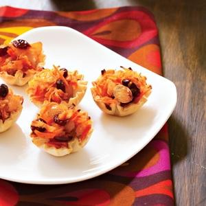 Fruit and Root Medley in Phyllo Cups