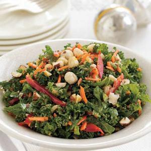 Carrot-Kale Slaw with Hazelnut Dressing